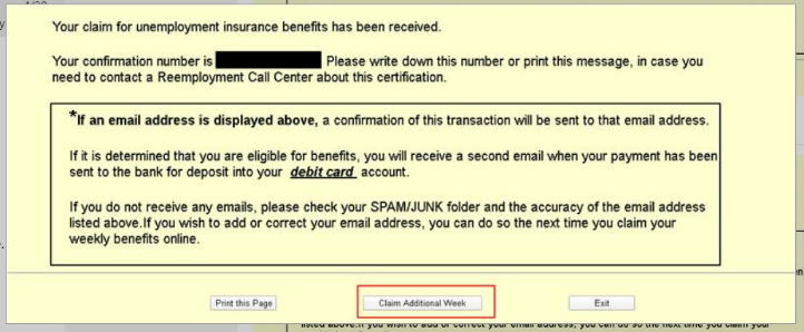 Division Of Unemployment Insurance Weekly Certification